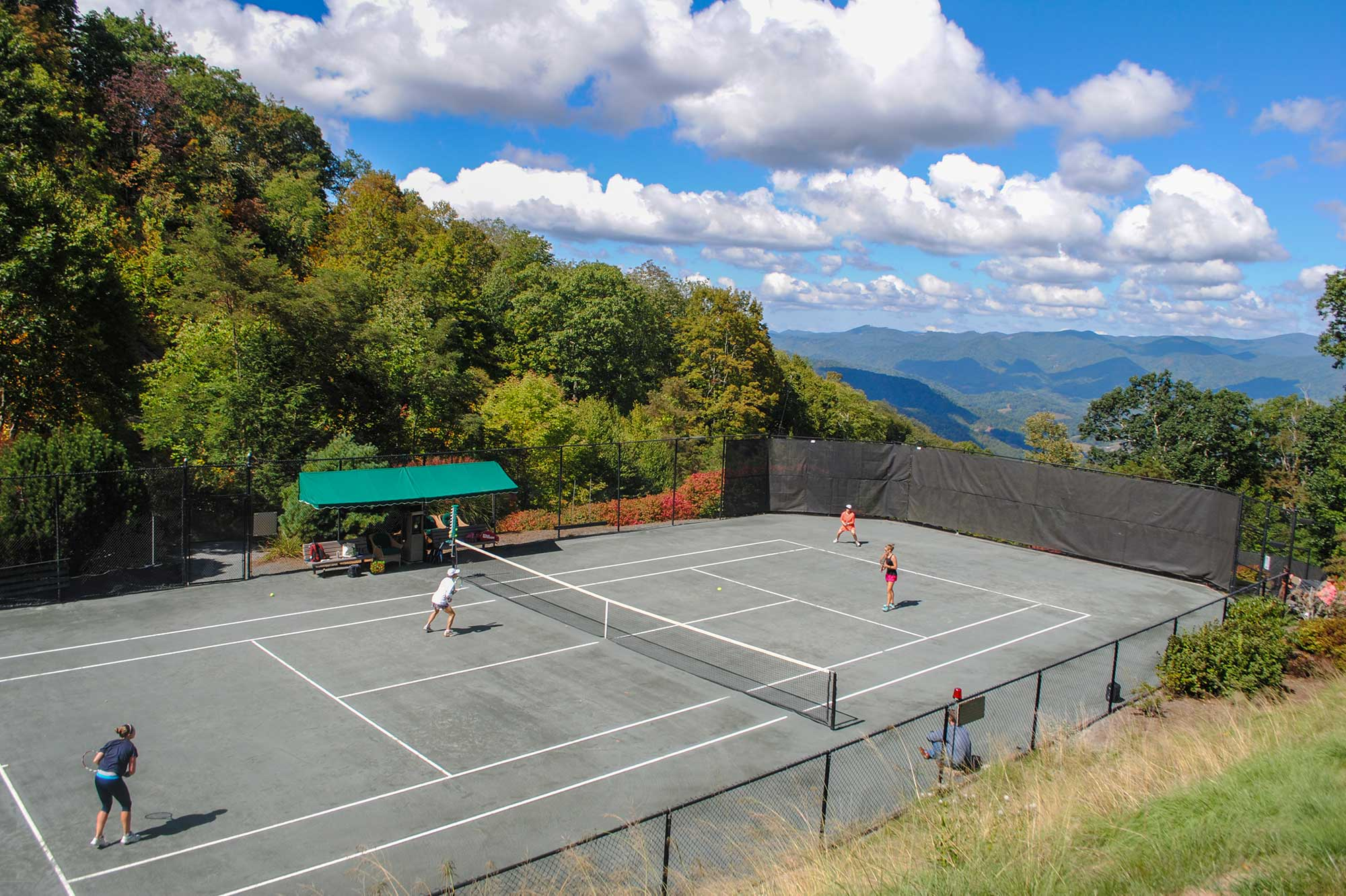 Scenic View At Mountain Air Country Club Tennis Court Burnsville NC