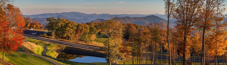 fall plan runway at mountain air