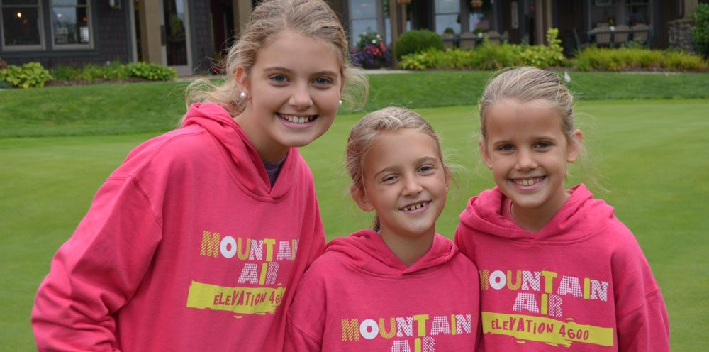 girls with mountain air sweatshirts
