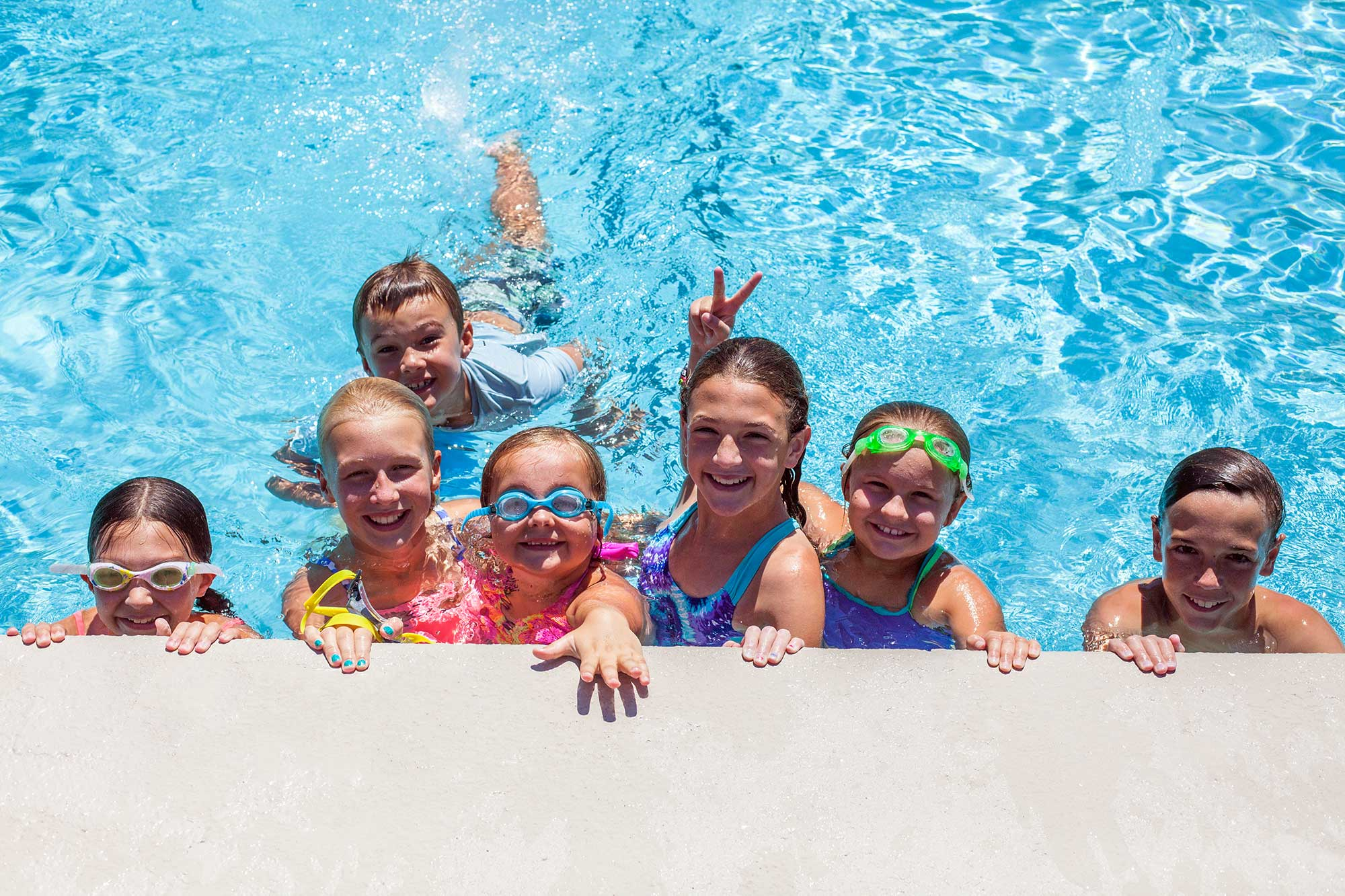kids at mountain air country club pool