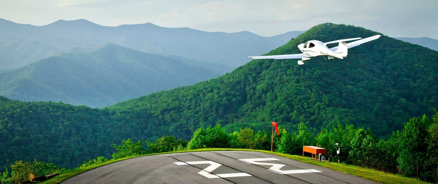 mountain air private runway takeoff